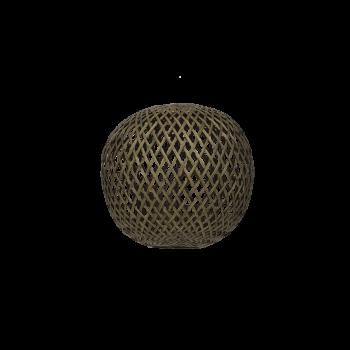 Lampshade, bamboo round, Black washed, S-20