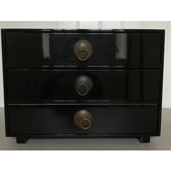 Chest of drawer, black-20