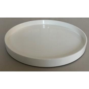Laqcuer tray round 45 cm white-20