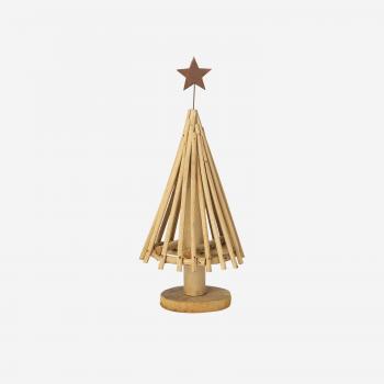 Rattan Christmas tree w star S-20