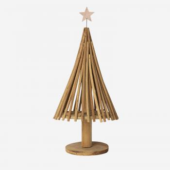 Rattan Christmas tree w star B-20