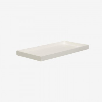 Lacquer tray 32x16 white-20