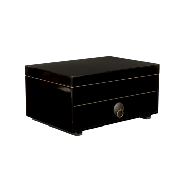 Chest of drawers with tray and lid black-20