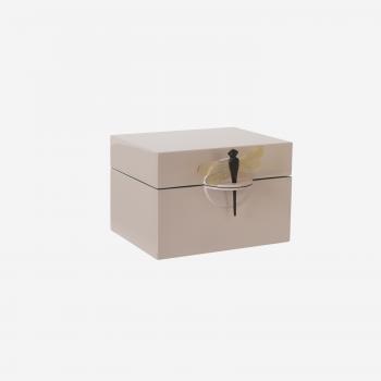 Lacquer box B pink powder-20