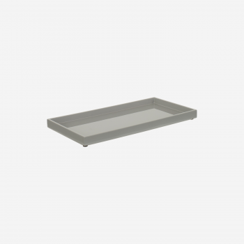 Lacquertray 32x16 cm stick grey-20
