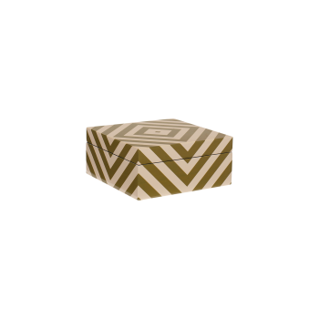 Lacquer box with stripes skin/army-20