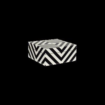 Lakskrin med striber black/white-20