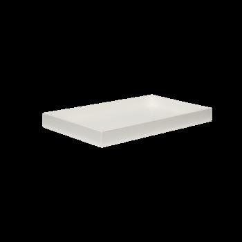 Lacquer tray 38x22 white-20