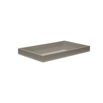 Lacquer tray 38x22 cool grey-20