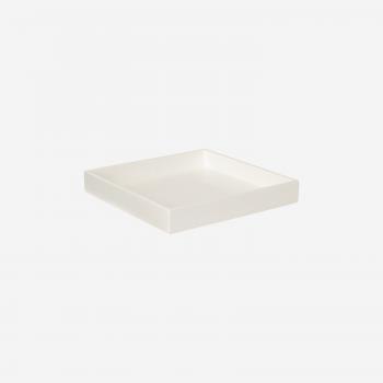 Lacquer tray 20x20 white-20
