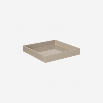 Lacquer tray 20x20 brown grey-20