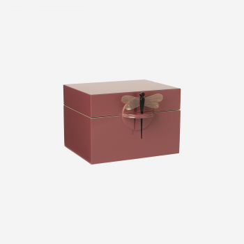 Lacquer box B warm red-20