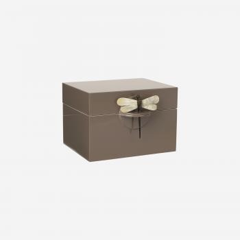 Lacquer box B mocca-20