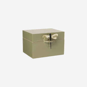 Lacquer box B olive-20