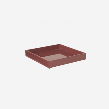 Lacquer tray 20x20 warm red-20