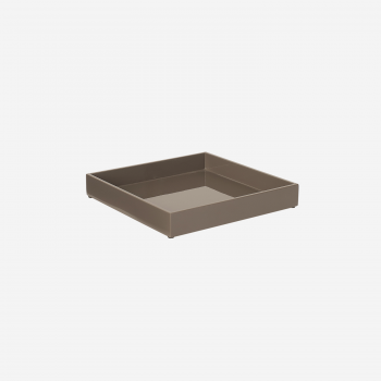 Lacquer tray 20x20 mocca-20