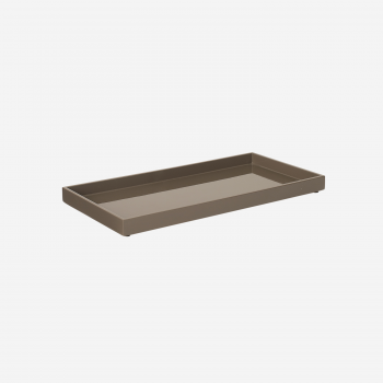 Lacquer tray 32x16 mocca-20