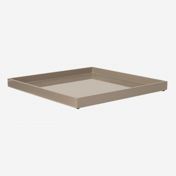 Lacquer tray 33x33 brown grey-20