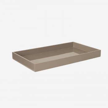 Lacquer tray 38x22 brown grey-20