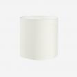 Lampshade, rawsilk, white 30x30