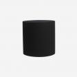 Lampshade, rawsilk, black 30x30