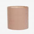 Lampshade, silkevelvet, rosa 30x30