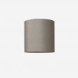 Lampshade, rawsilk, grey 40x39