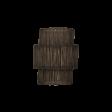 Lampeskærm, Rattan, black washed