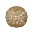 Lampeskærm, Rund bambus, nature, XL