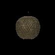 Lampshade, bamboo round, Black washed, S