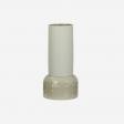 Ceramic vase B light olive