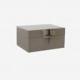 Lacquer box XL brown grey
