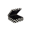 Lacquer box with stripes black/white