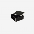 Flat lacquer box with room divider S black