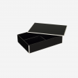 Flat lacquer box with room divider B black