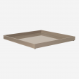 Lacquer tray 33x33 brown grey