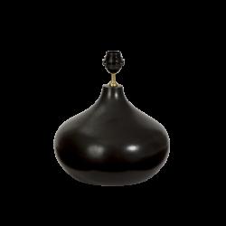 Lampefod keramik mat black