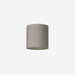 Lampshade, raw silk, grey 30x30