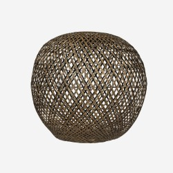 Lampshade, bamboo round, blackwashed, XL