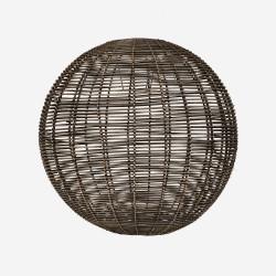 Round rattan lampshade, blackwashed, XL