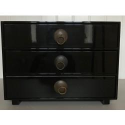 Chest of drawer, black