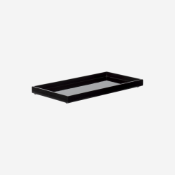 Lacquer tray 32x16 black