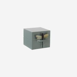 Lacquer box S dove blue