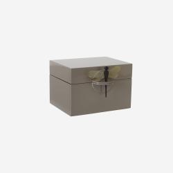 Lacquer box B brown grey