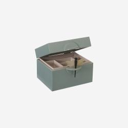 Lacquer box B dove blue
