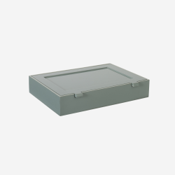 Lacquer box with rooms B dove blue/dusty green
