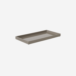 Lacquer tray 32x16 brown grey