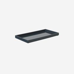 Lacquer tray 32x16 demin blue