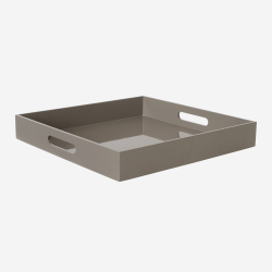Lacquer tray 40*40 brown grey