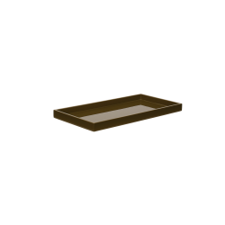 Lacquer tray 32x16 army